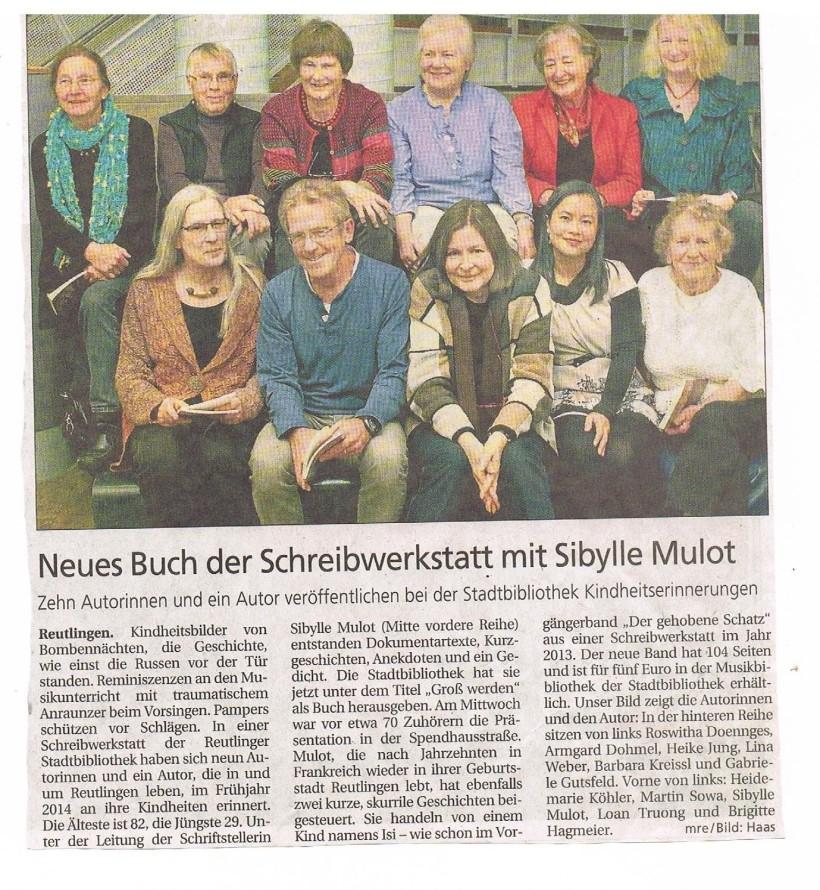 Artikel aus dem Schwäbischen Tagblatt