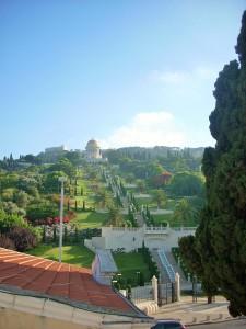 Bahai-Schrein mit den Persischen Gärten